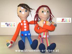 strömLilli und strömWilli Puppen für Entspannungsübungen zum Strömen